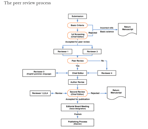 Peer review diagrama de Elsevier