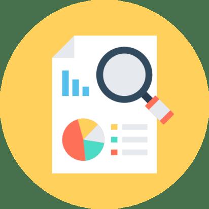 analytics - símbolo de las opciones que permiten investigar en SEO