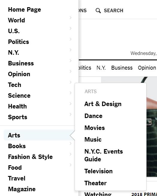 La taxonomías de The New York Times