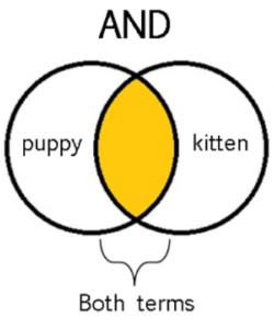 Diagrama de Venn: operador AND