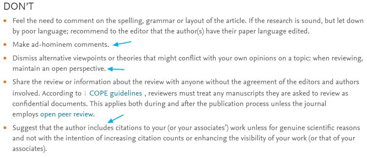 Cómo no hacer la evaluación de un artículo científico