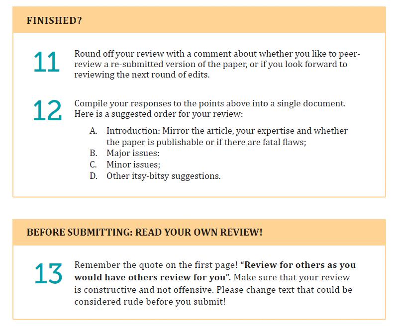 Parte de las fases de elaboración de un informe de peer revieew