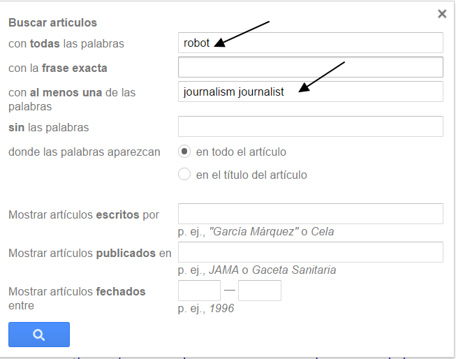 Google Scholar: búsqueda avanzada