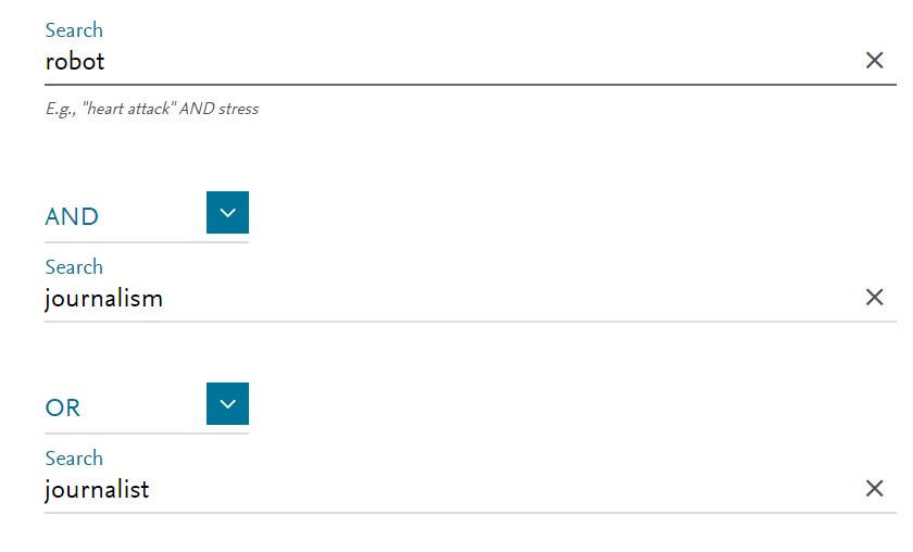 Scopus: formulario de búsqueda
