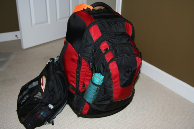 backpack for round the world trip