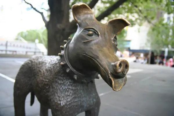 pooch statue