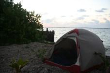 tent--thatch caye, belize