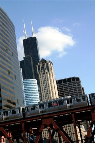 """El"" train & Sears Tower"
