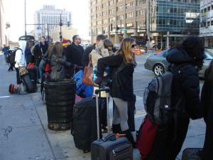 Waiting on Line for Megabus