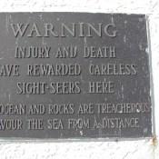 Peggys Cove Warning
