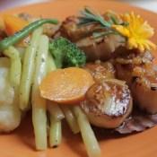 Scallops - Charlotte Lane Cafe - Shelburne, Nova Scotia