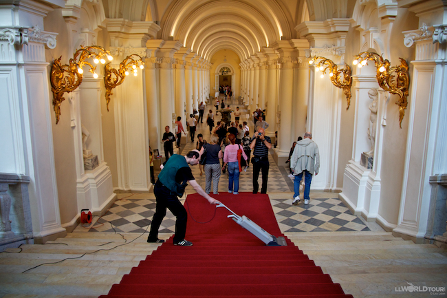 Vacuuming the Hermitage