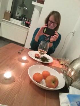 Sherry photographs my culinary masterpiece!