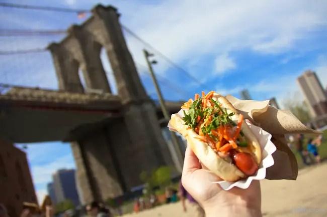 Hot Dog Brooklyn Bridge
