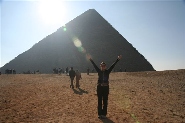 Lisa Lubin at the Pyramids