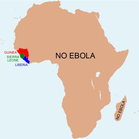 Ebola Map (Anthony England : @EbolaPhone)