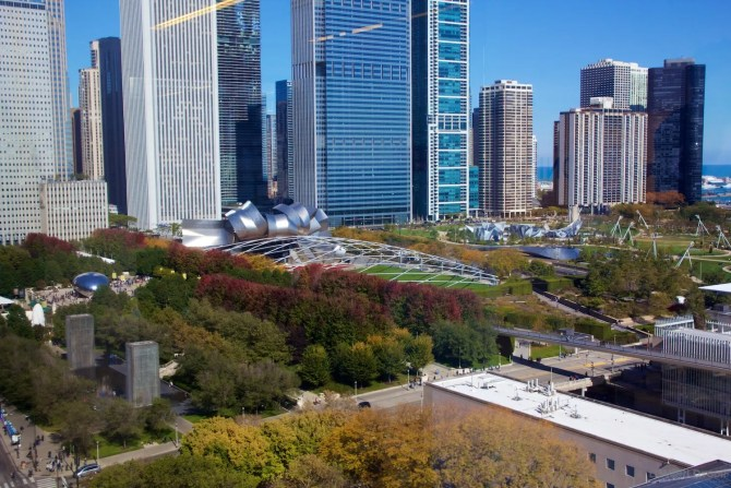 Millennium Park from high
