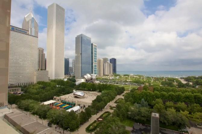 Chicago over Millennium Park