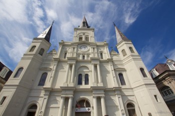 The Saint Louis Cathedral is the oldest Cathedral in North America.