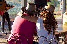 Couples enjoy the tasting and countryside