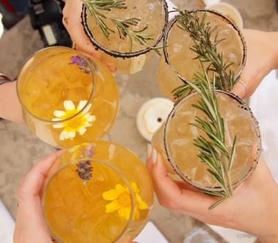 Rooftop cocktails at Soler de las Animas Hotel