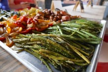 Delicious grilled veggies at Loflin Yard