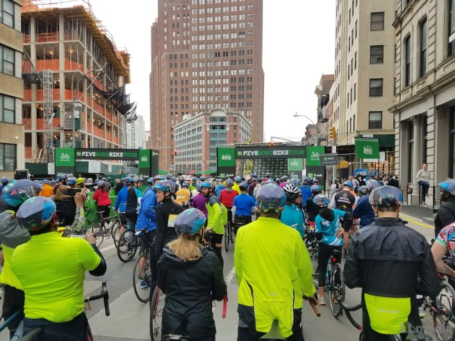 5 Boro Bike Tour Starting Line
