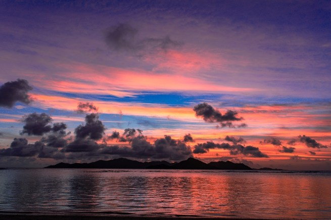 Sunset at Anse La Reunion