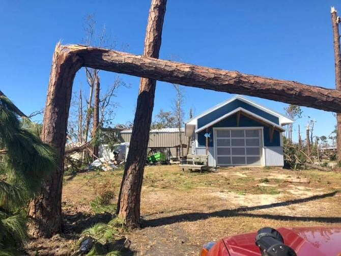 Our house after Hurricane Michael