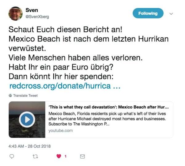 Sven's tweet