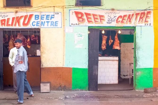 Beef shop in Goa
