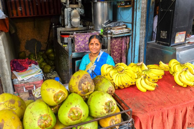coconuts and bananas in Goa