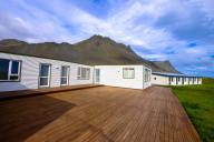 a house with wooden deck