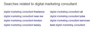 google related searches digital marketing consultant