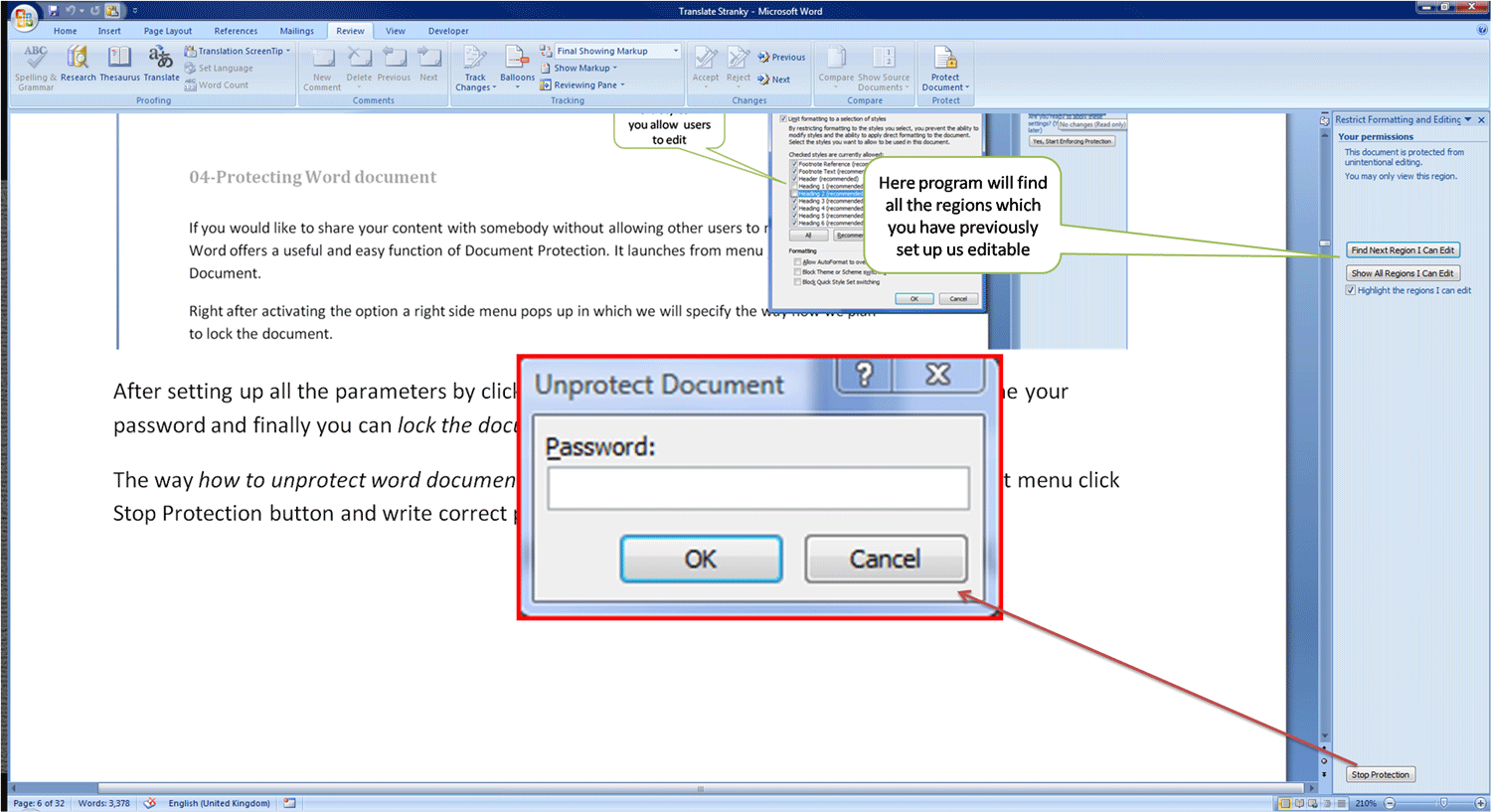 04 How To Protect Word Document