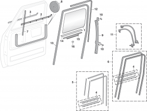 LMC Truck: Door Glass and Parts