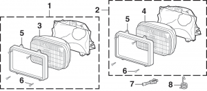 LMC Truck: Headlights