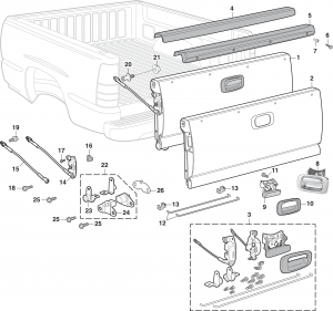 LMC Truck: Bed and Tailgate Components