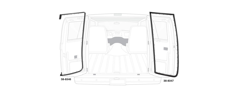Rear Cargo Door Rubber