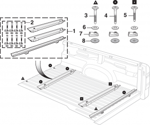 Ford Ranger Tailgate Parts Diagram
