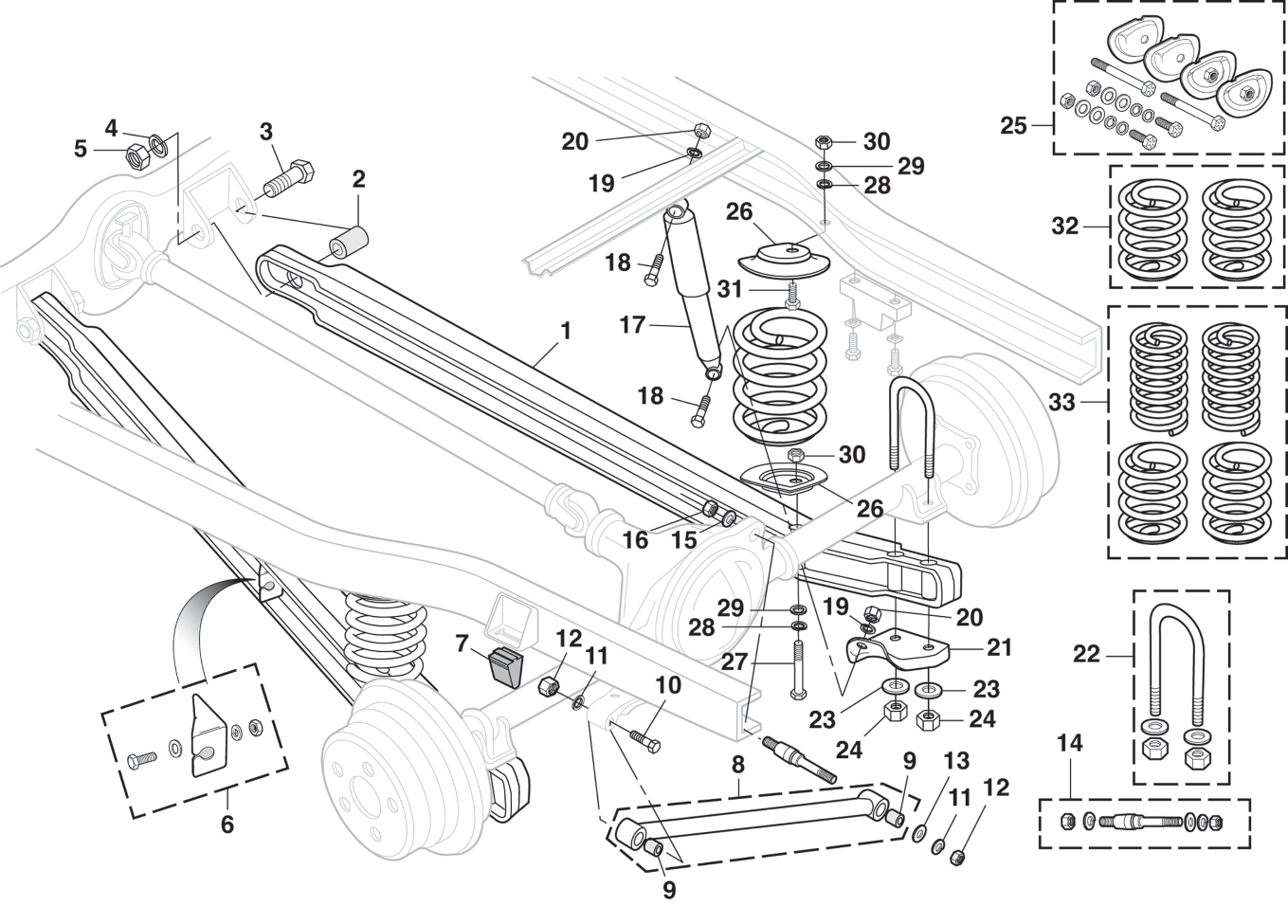 Rear Suspension With Coil Springs