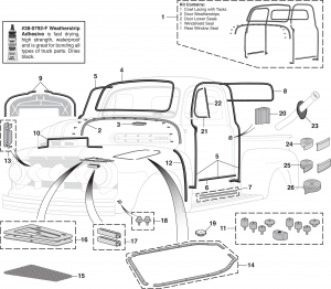 LMC Truck: Exterior Rubber Components