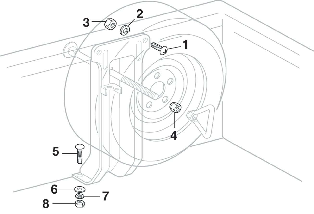 1973-91 Side Mounted Spare Tire Hardware