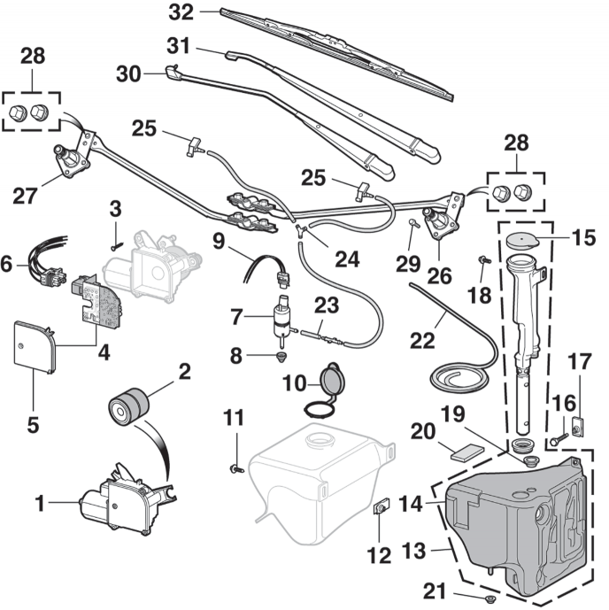 Front Wiper and Components
