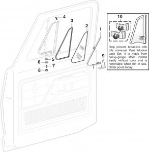 LMC Truck: Vent Windows and Components