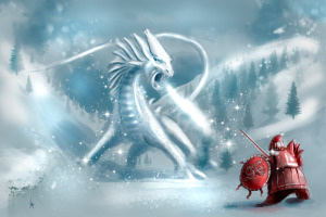 Santa Vs White Dragon