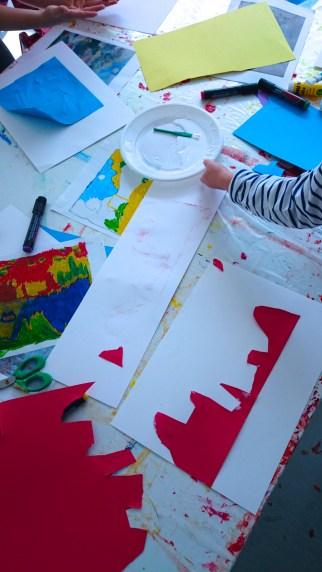 Positionnement formes colorées