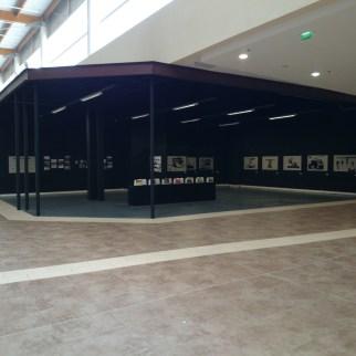 Vue de l'exposition au centre commercial du Grand cap