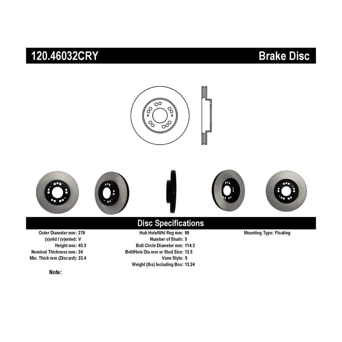 hight resolution of stoptech 120 46032cry mitsubishi 3000gt premium cryostop rotor front 1991 1999 alternate