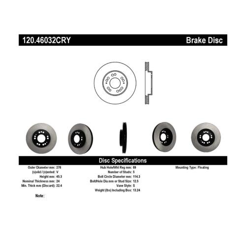 small resolution of stoptech 120 46032cry mitsubishi 3000gt premium cryostop rotor front 1991 1999 alternate